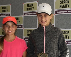 Peyton Duckett & Justine Hayward-Janney R/U girls 12 & under doubles